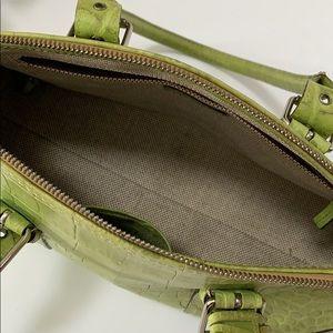 Dooney & Bourke Bags - Dooney and Bourke Green Croc Embossed Purse